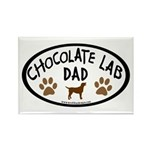 Chocolate Lab Dad Rectangle Magnet (10 pack)