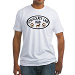 Chocolate Lab Dad Fitted T-Shirt