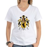 Petter Family Crest Women's V-Neck T-Shirt