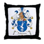 Petersen Family Crest Throw Pillow