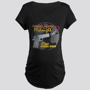 Threat Level: Midnight Maternity Dark T-Shirt