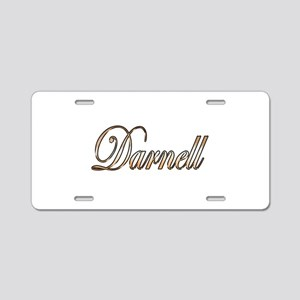 Gold Darnell Aluminum License Plate