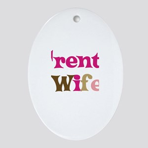 Trent's Wife Oval Ornament