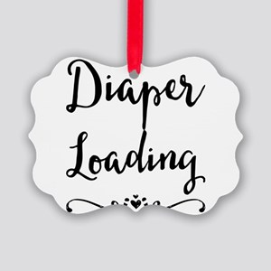 Diaper Loading Picture Ornament