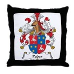 Pader Family Crest Throw Pillow