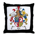 Ort Family Crest Throw Pillow