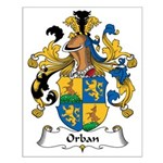 Orban Family Crest Small Poster