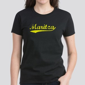 Vintage Maritza (Gold) Women's Dark T-Shirt