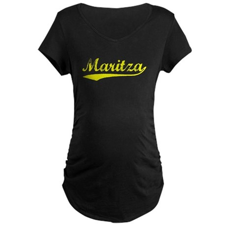 Vintage Maritza (Gold) Maternity Dark T-Shirt