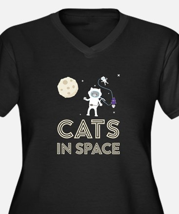 Cats in Space Ctfb7 Plus Size T-Shirt