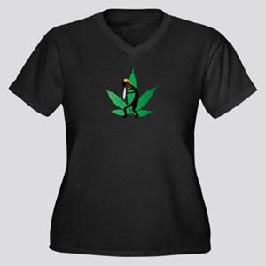 Rastapelli Women's Plus Size V-Neck Dark T-Shirt