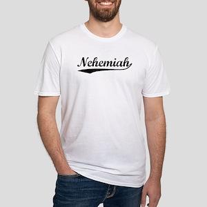 Vintage Nehemiah (Black) Fitted T-Shirt