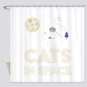 Cats in Space Ctfb7 Shower Curtain
