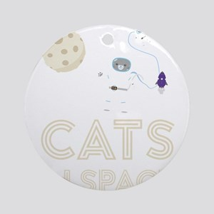 Cats in Space Ctfb7 Round Ornament