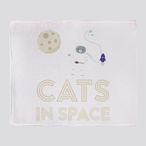 Cats in Space Ctfb7 Throw Blanket