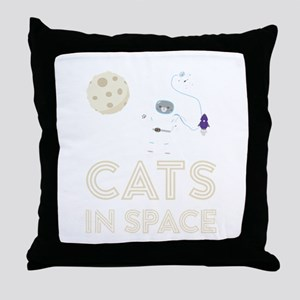 Cats in Space Ctfb7 Throw Pillow