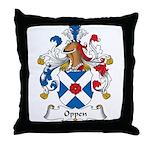 Oppen Family Crest Throw Pillow