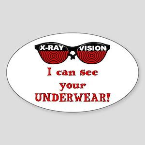 Retro X-Ray Spex Oval Sticker