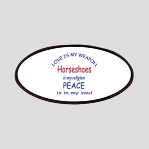 Horseshoes is my Religion Patch