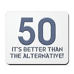 50th Gift Ideas, 50 Mousepad
