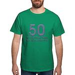50th Gift Ideas, 50 Dark T-Shirt