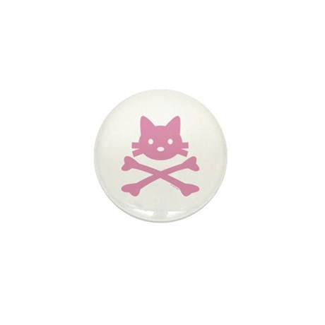 Kitty Crossbones By Rotem Mini Button (10 Pack)