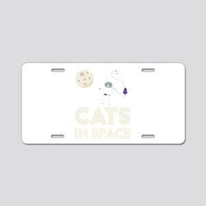 Cats in Space Ctfb7 Aluminum License Plate