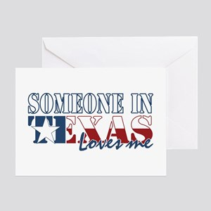 Someone in texas loves me greeting cards cafepress someone in texas greeting card m4hsunfo