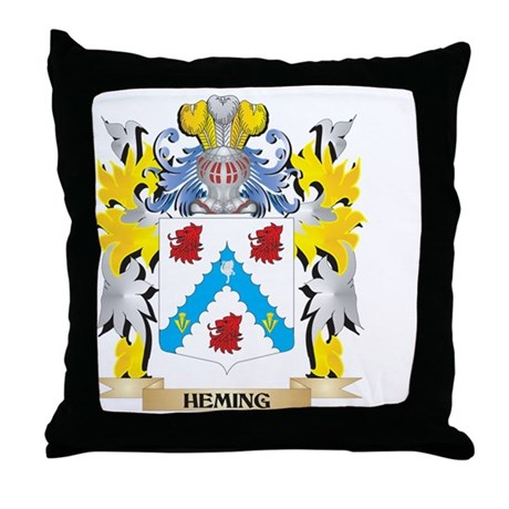 Heming Coat of Arms - Family Crest Throw Pillow