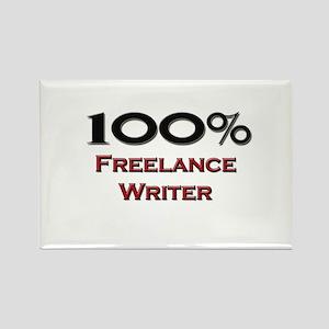 100 Percent Freelance Writer Rectangle Magnet