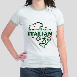 Everyone Loves an Italian girl Jr. Ringer T-Shirt
