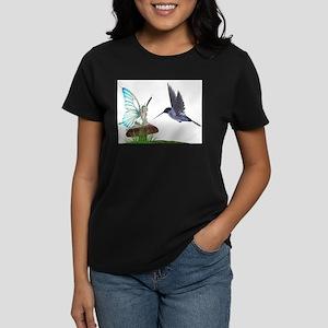 Hummingbird and Fairy Ash Grey T-Shirt
