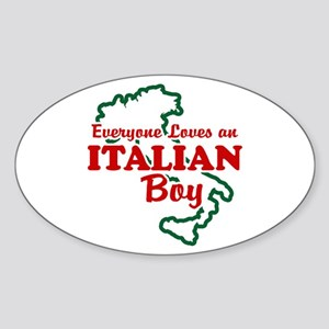 Everyone Loves an Italian Boy Oval Sticker