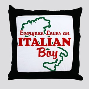Everyone Loves an Italian Boy Throw Pillow