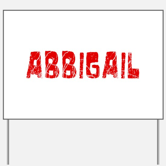 Abbigail Faded (Red) Yard Sign