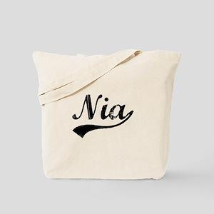 Vintage Nia (Black) Tote Bag