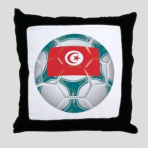 Tunisia Championship Soccer Throw Pillow