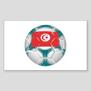Tunisia Championship Soccer Rectangle Sticker