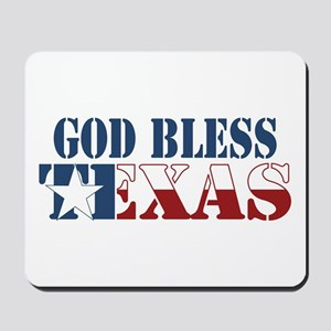 God Bless Texas Mousepad
