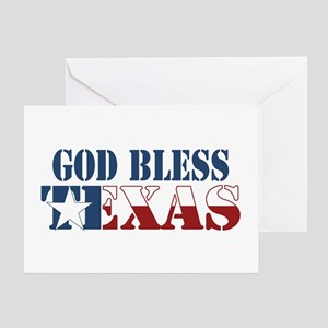 Dallas cowboy greeting cards cafepress god bless texas greeting card m4hsunfo