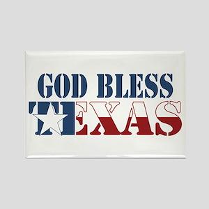 God Bless Texas Rectangle Magnet