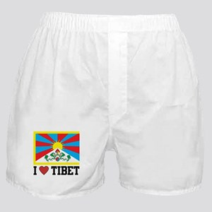 I Love Tibet Boxer Shorts