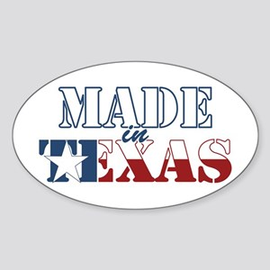 Made in Texas Sticker (Oval 50 pk)