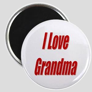 I Love Grandma Magnet