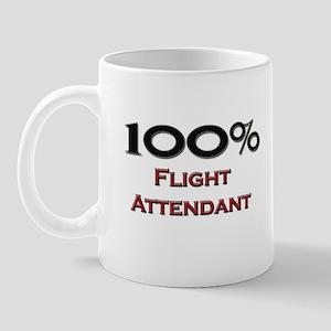 100 Percent Flight Attendant Mug