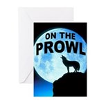 WOLF PROWL Greeting Cards