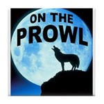 WOLF PROWL Tile Coaster