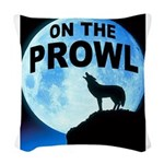 WOLF PROWL Woven Throw Pillow