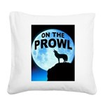 WOLF PROWL Square Canvas Pillow