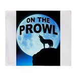 WOLF PROWL Throw Blanket